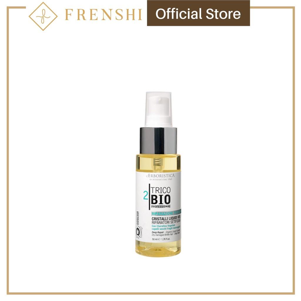 Frenshi L'Erboristica Hair Oil (Made in Italy) - TRICOBIO PROFESSIONAL DEEP REPAIR - ORGANIC LIQUID CRYSTALS 50ML