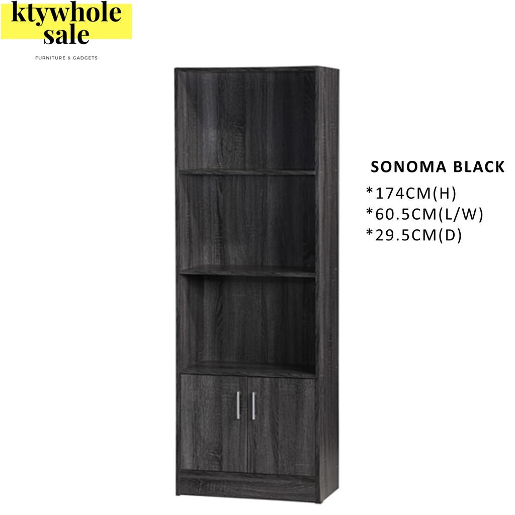 4-Tier 2Doors Multipurpose Storage Cabinet/ File Cabinet/ Decoration Rack/Rak Buku/Rak Simpanan/摆设柜 书橱 储物柜 衣橱 (SU 800D)