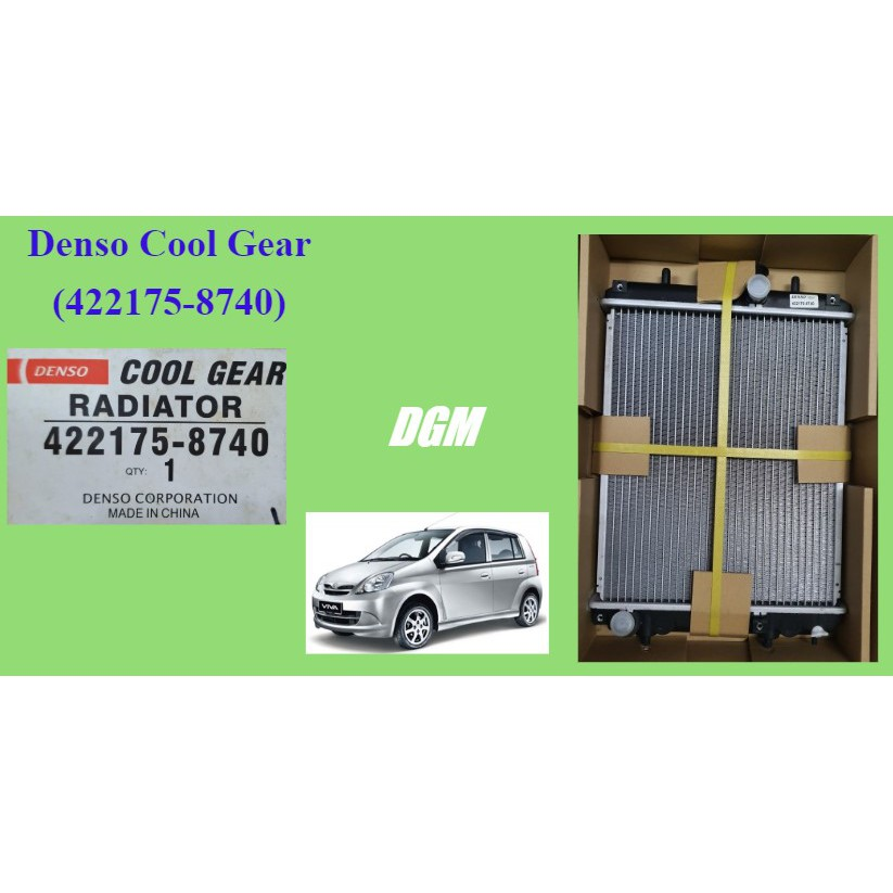 Perodua Viva 2007 manual 16mm radiator Denso cool gear