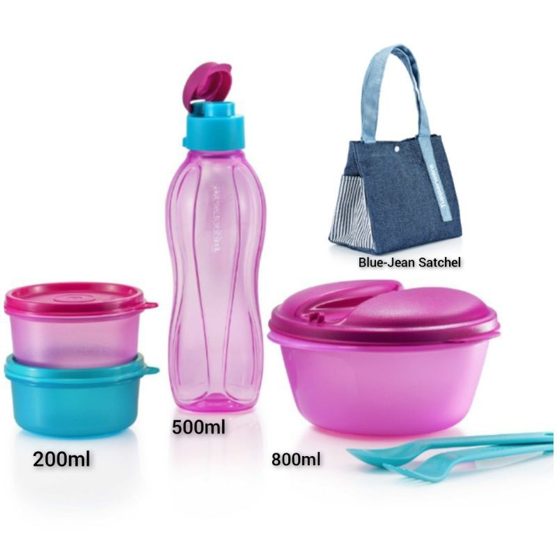 Tupperware Out N About Lunch Set OR Safe To Go Set
