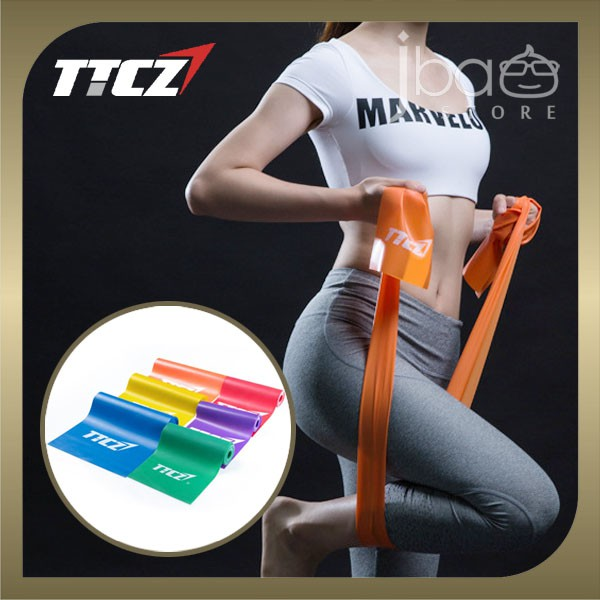 TTCZ Elastic Resistance Band Strength Training Fitness Pilates Yoga Gym
