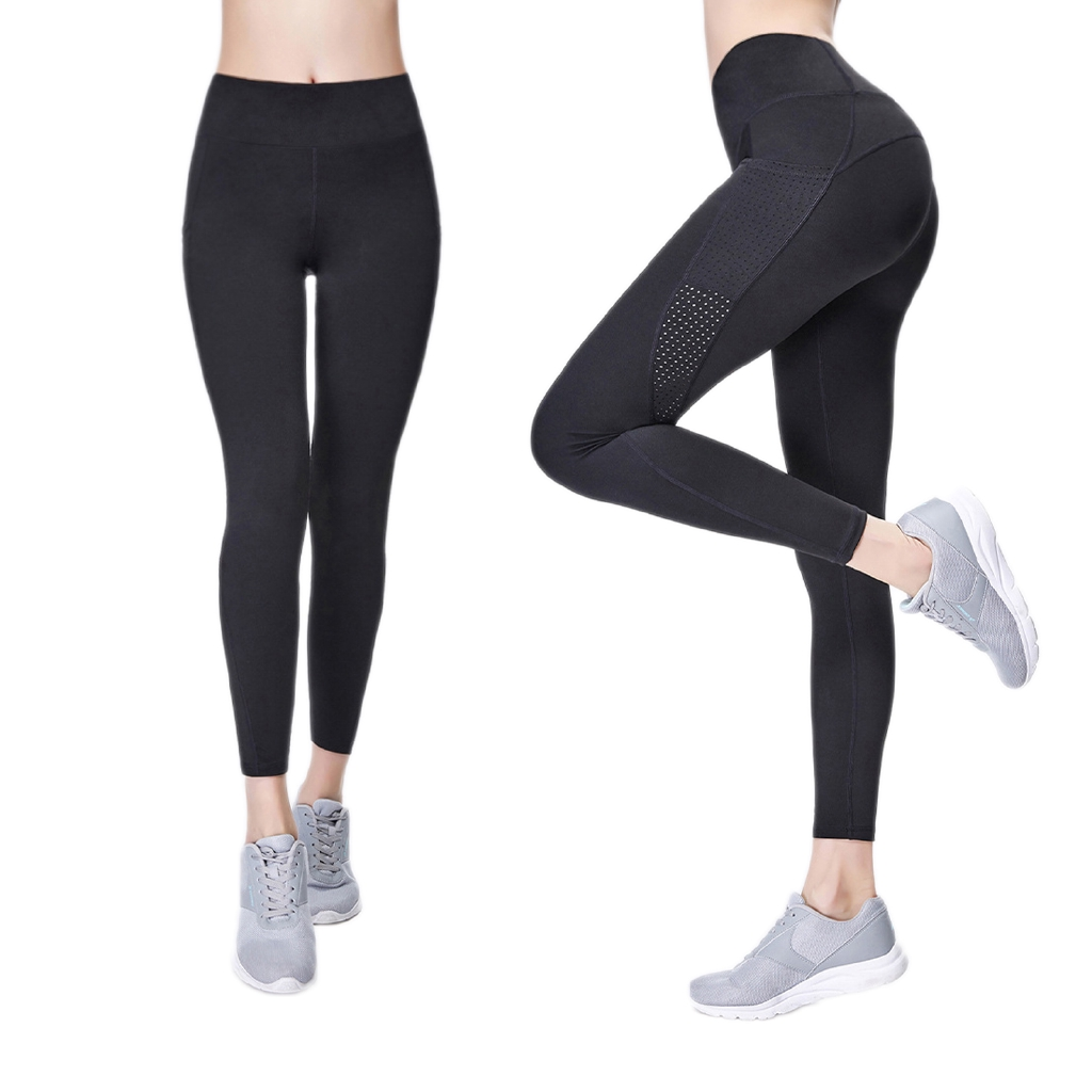 fang Fans Women High Waist Out Pocket Yoga Short Running Athletic Yoga Shorts Pants Tummy Control with Side Pockets Cycling Running Shorts