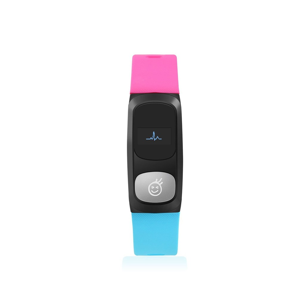 HeHa Qi Pink-Blue Fit Trackers With Clock Pedometer Calorie Burned Tracker Burner Counter