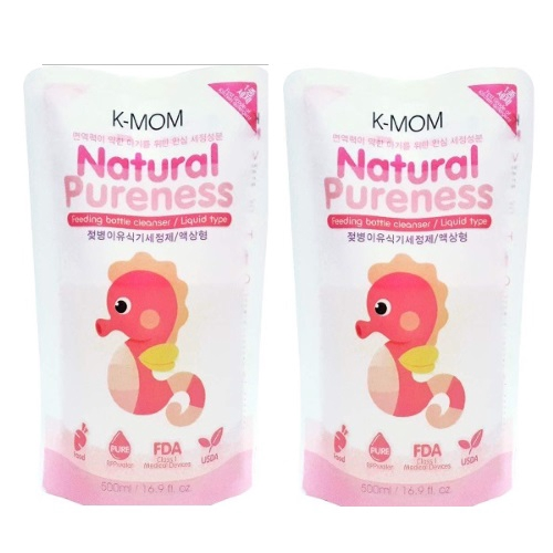K-Mom: Natural Pureness Feeding Bottle Cleanser Refill Pack 500ml ( 2 Pack )