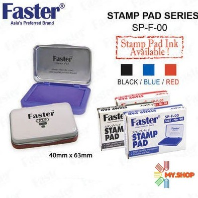 Faster Stamp Pad No.00 (40mm x 63mm)