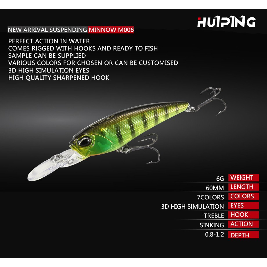 Lot 10PCS Fishing Lures Sinking Minnow 5cm 5g Long Casting Plastic Hard Bait | Shopee Malaysia