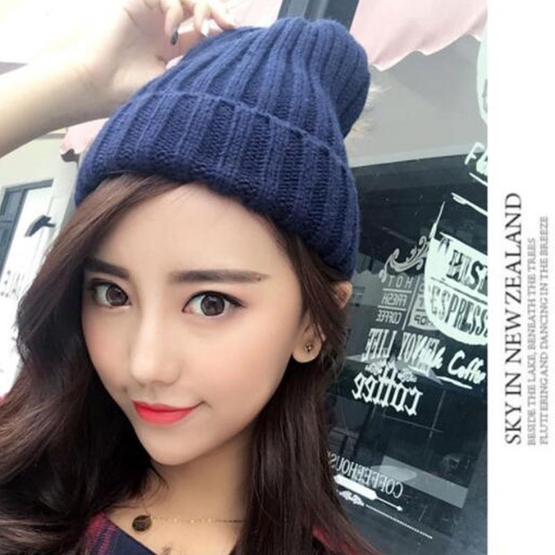 f75597a1a Winter new ladies fashion hat cute pom pom fluffy ball warm wool knit hat