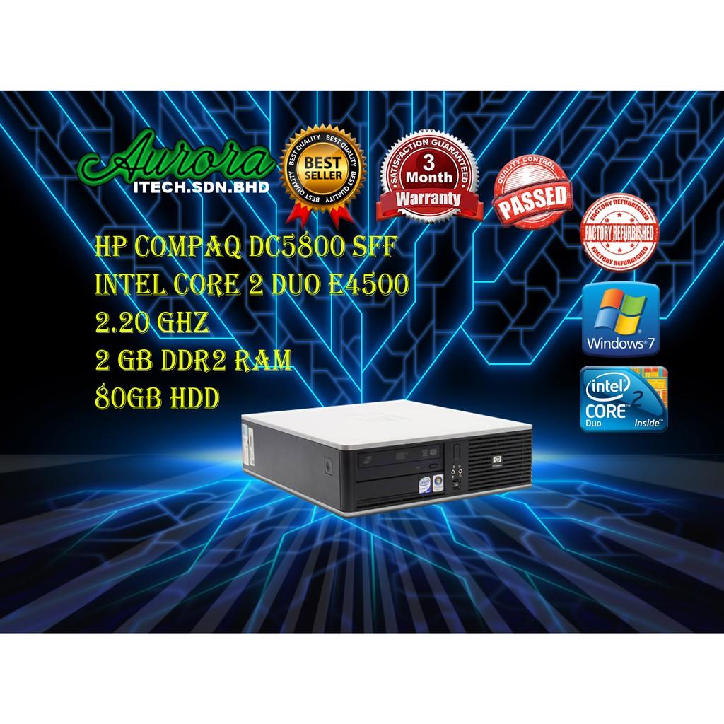 (REFURBISHED)HP Compaq DC5800 C2D SFF Desktop / Intel Core 2 Duo E4500  2 20GHZ /