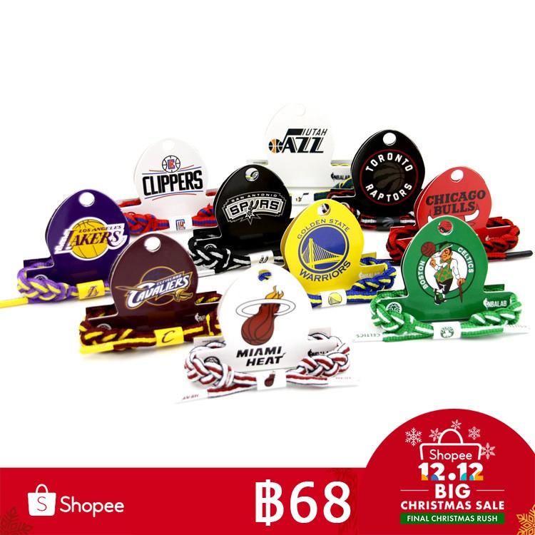 **โค้ด GOLD30 ลด 30%**NBA Basketball Team Series Logo Weaving Bracelets Tide
