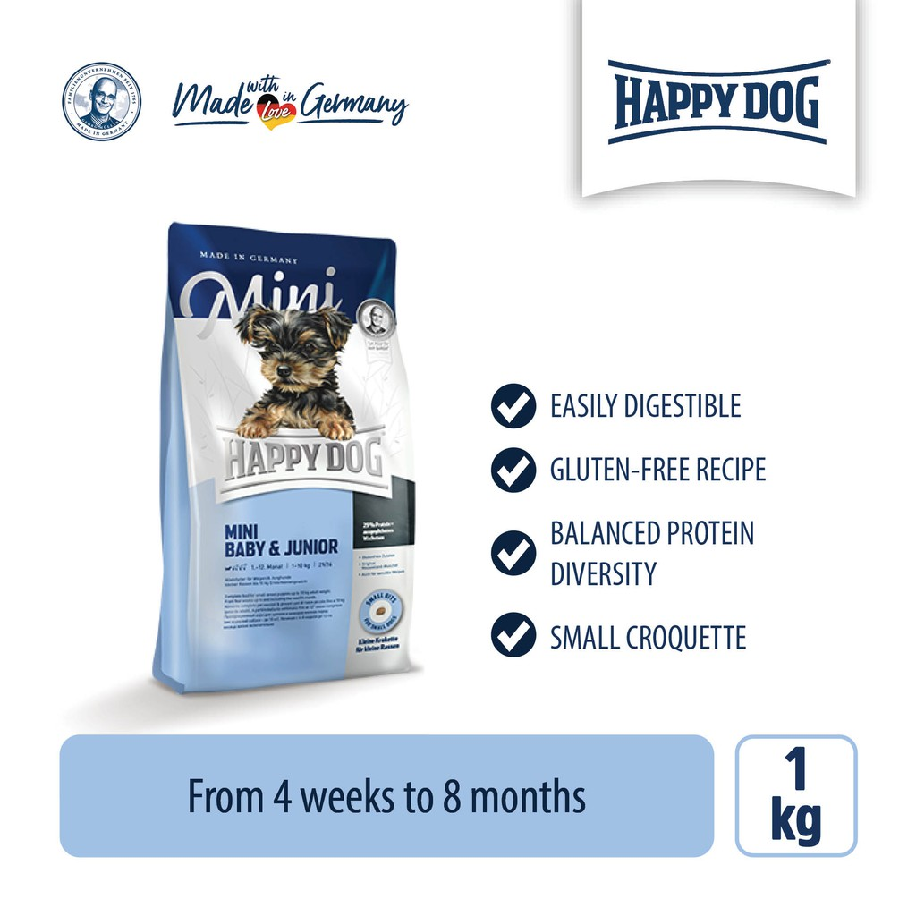 Happy Dog Supreme Young - Mini Baby & Junior (1kg)