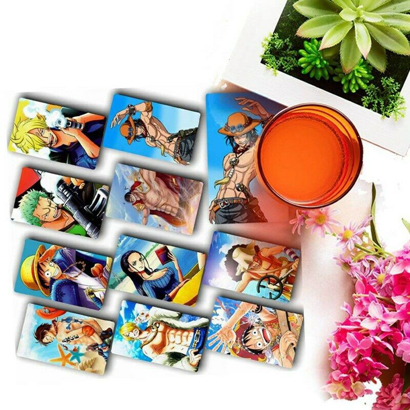 10Pcs Home Decor Japanese One Piece Card Stickers Cosplay Anime Wall Poster