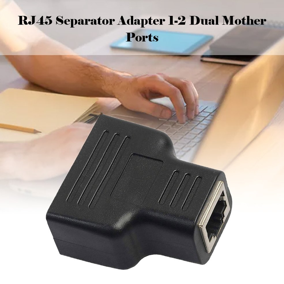 1 to 2 Ways Dual Female Port RJ45 Splitter Adapter CAT5//6//7 LAN Ethernet Cable