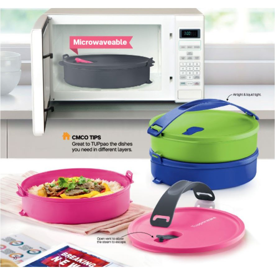 Tupperware Microwavable Round Click To Go