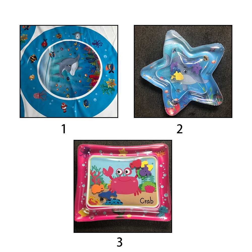 PVC Bright Color Baby Inflatable Water Mat Infant Underwater World Playmat Toddler Fun Activity Pad Perfect for Summer