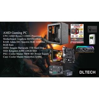 Gaming PC Desktop AMD Ryzen 3 2200G / B450M Motherboard
