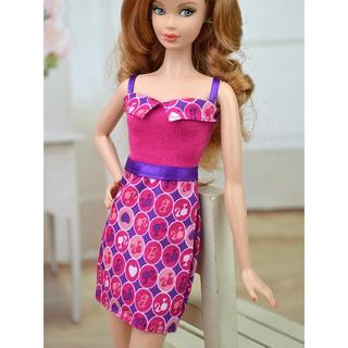 dafa010e32f81 High Quality One piece Dress For Barbie Dolls For 1/6 Dolls Clothes ...