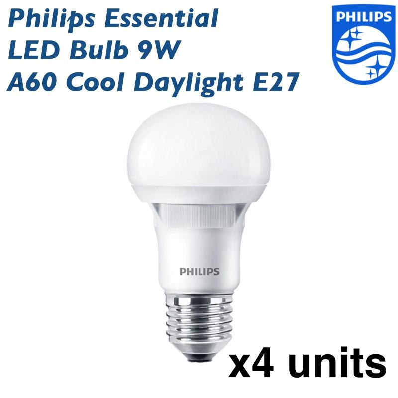 Philips MyCare LED Bulb 10W A60 E27 - 4 units (Cool Daylight or Warm White) | Shopee Malaysia
