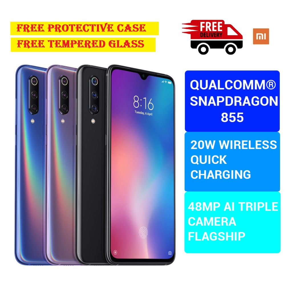 XIAOMI MI9 MI 9 MY SET 6.39INCH 48MP TRIPLE REAR CAMERA NFC 6GB 128GB SNAPDRAGON 855 OCTA CORE 4G SMARTPHONE WARRANTY MI