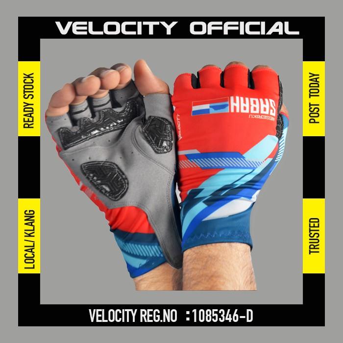 Cycling Glove Gel Velocity Gloves Sabah Half Finger Glove UV Protection Glove Stretchable Glove