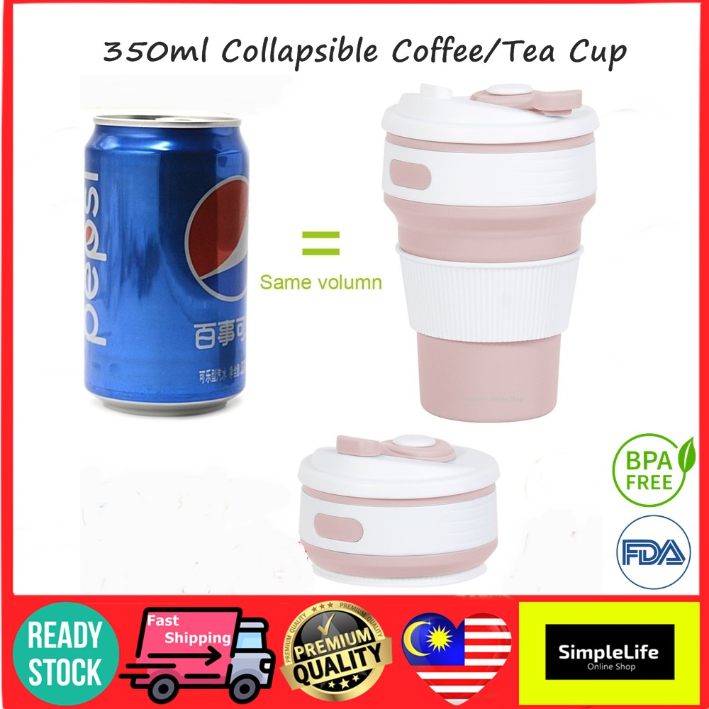 Lightweight Collapsible Cup with Lanyard Reusable Mug with Lids Best for Camping,Hiking,Travel 4 Pack Outdoor No BPA Portable Cups
