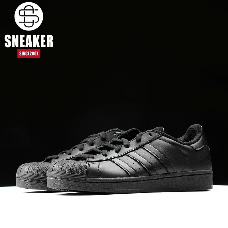 the latest 9e2da 42a7f Authentic Adidas Black Superstar darth vader Men and women casual Shoes  AF5666