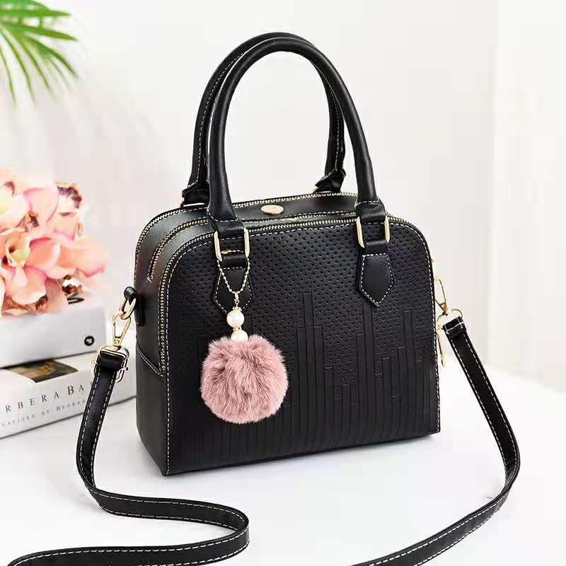 Elegant Romance Women Handbag Sling Bag Tote Bag T opHandle Bag #beg wanita