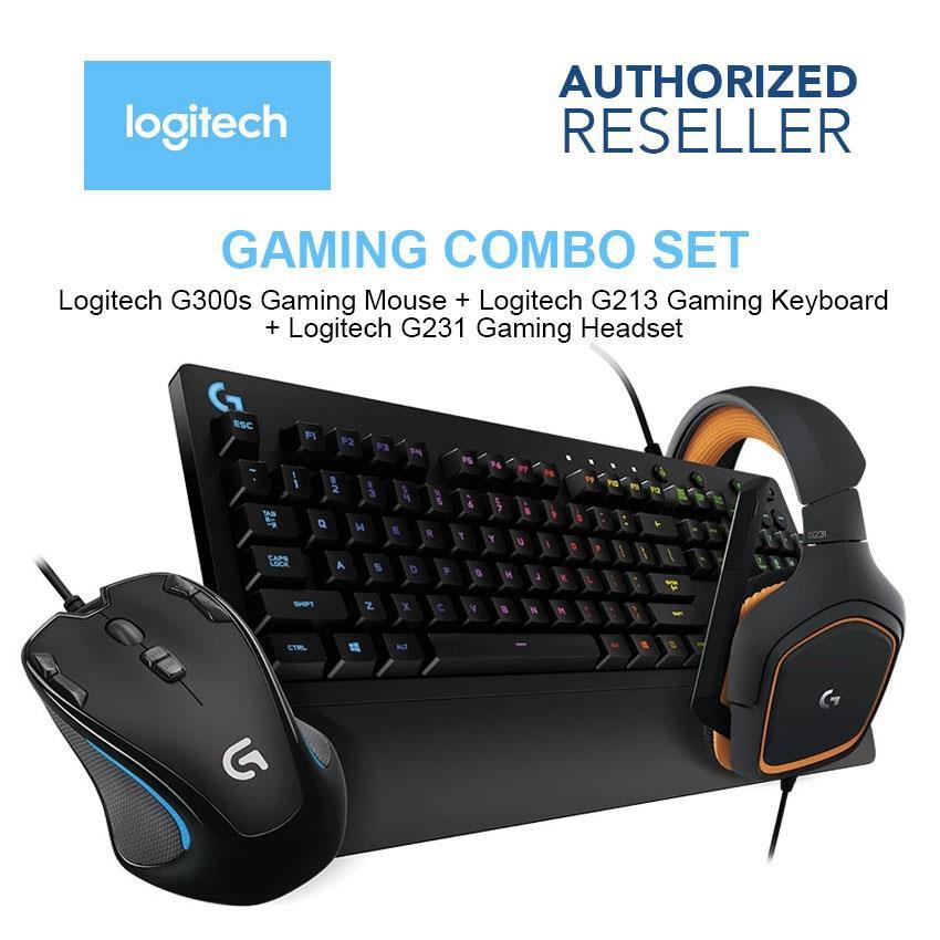 Logitech Gaming Bundle Combo G300s Mouse G213 Keyboard G231 Headset