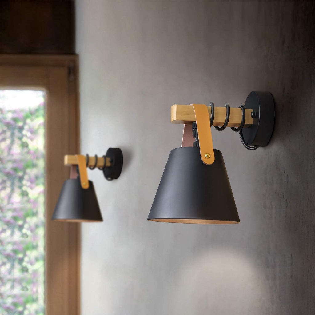 Modern Wall Light Lampu Dinding E27 Vintage Wall Sconce Lamp Wall Lights Loft Retro Shopee Malaysia