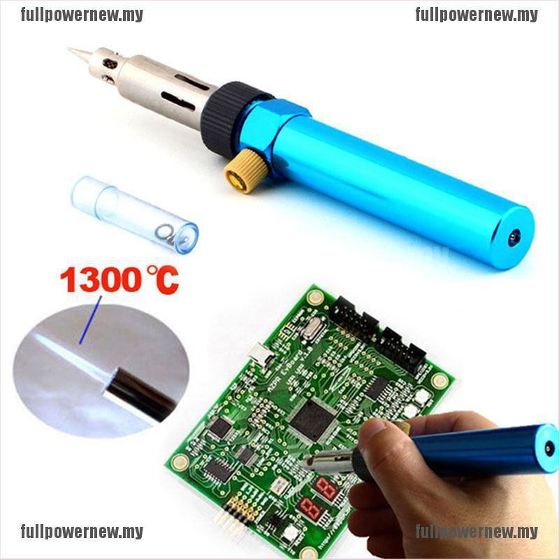 3in1 Gas Blow Torch Soldering Solder Iron Gun Butane Cordless Welding Pen Burner