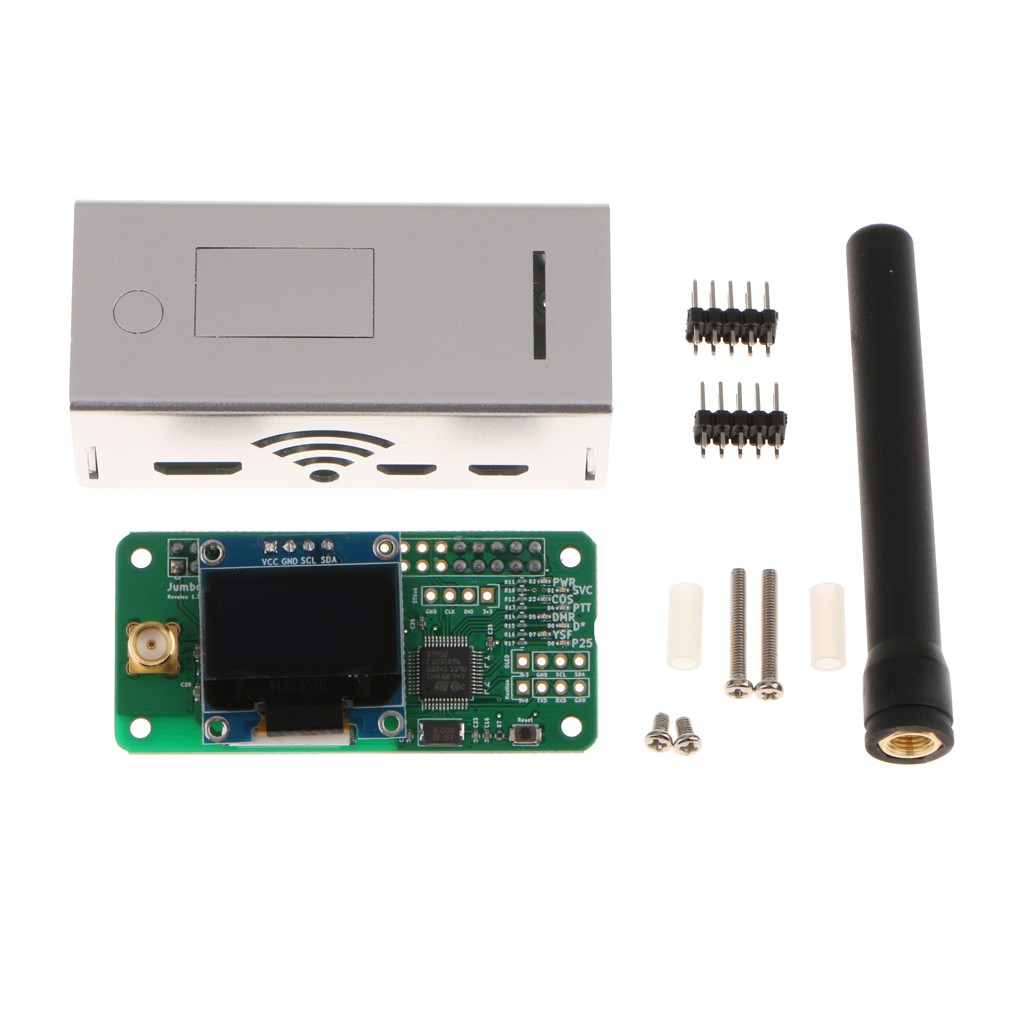 ☄Shiwaki♪Antenna + Case + OLED + MMDVM Hotspot Support P25 DMR YSF for  Raspberry pi
