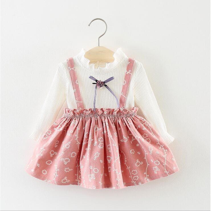be6ddc06e331f High quality baby girl dress autumn 2018 new Korean children's fashion  cotton