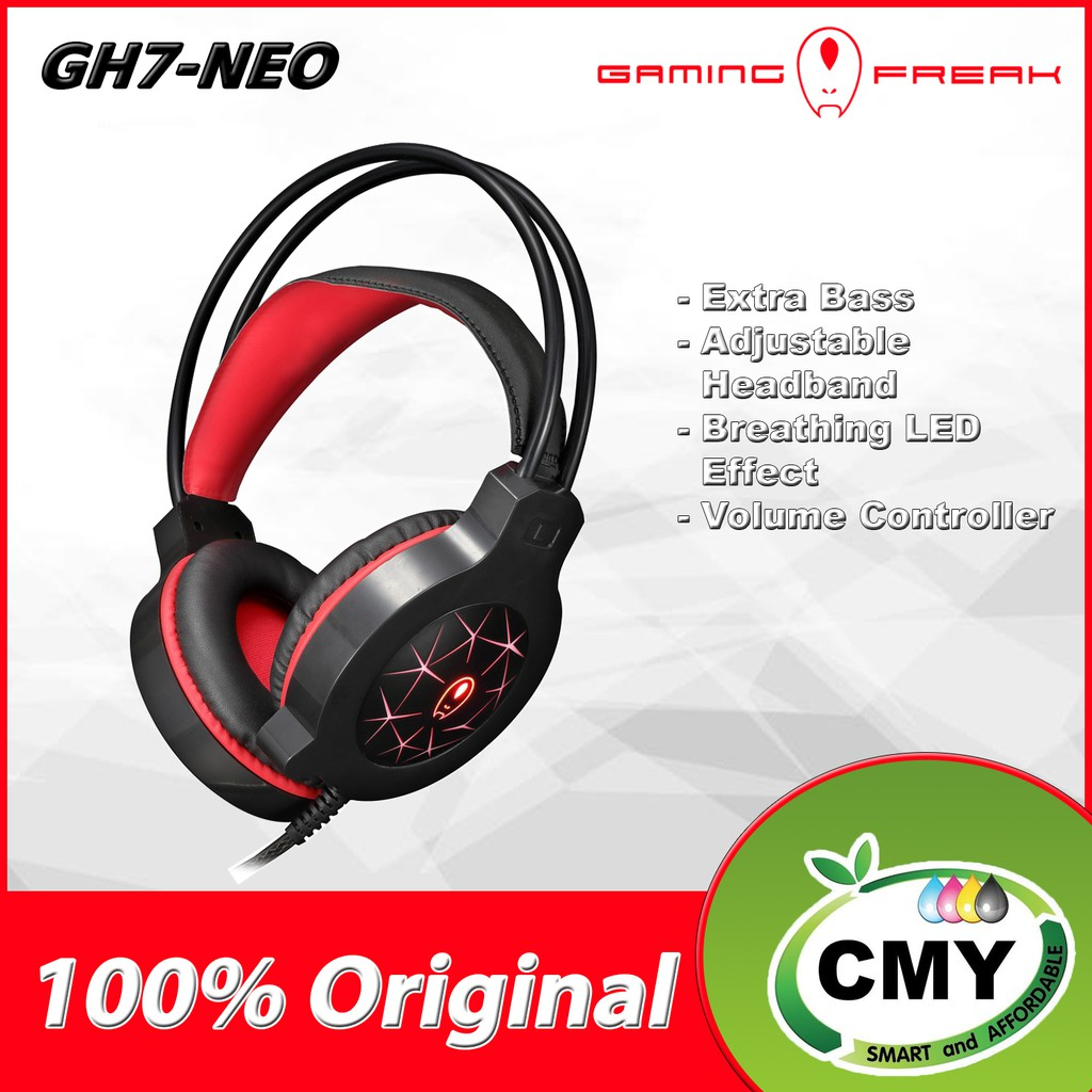 Gaming Freak GH7-GEO PC Gaming Headset GH7 GEO with Extra Bass, 40MM Driver Built-In Microphone Volume Controller