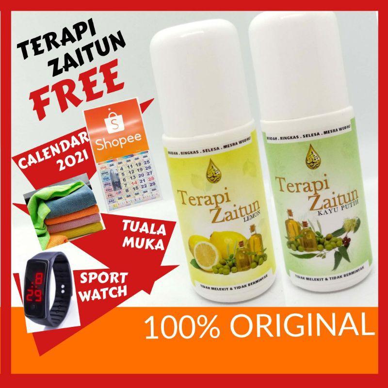 [ Promosi ] Original HQ TERAPI ZAITUN Minyak Haruman Lemon Kayu Putih