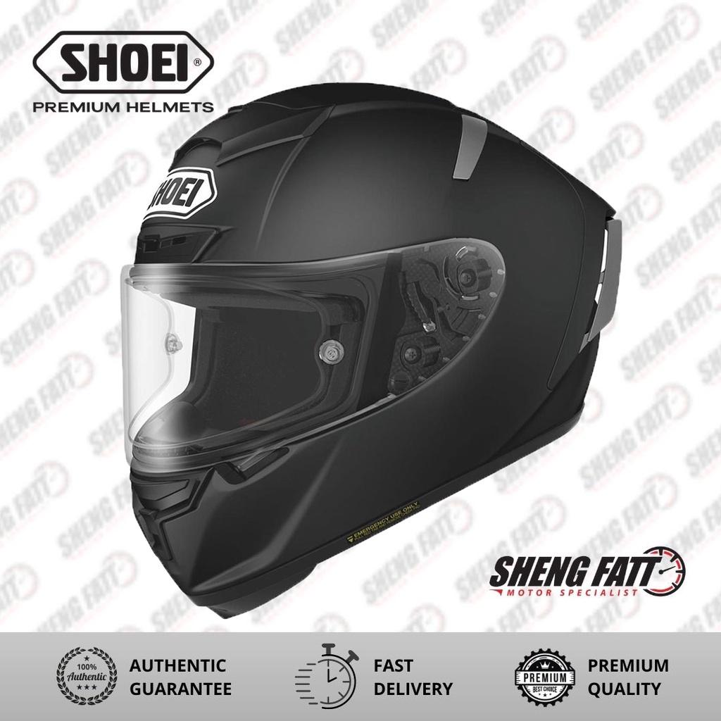 Shoei X-Spirit 3 Matte Black Full Face Helmet for Motorcyclist Superbike XL Size