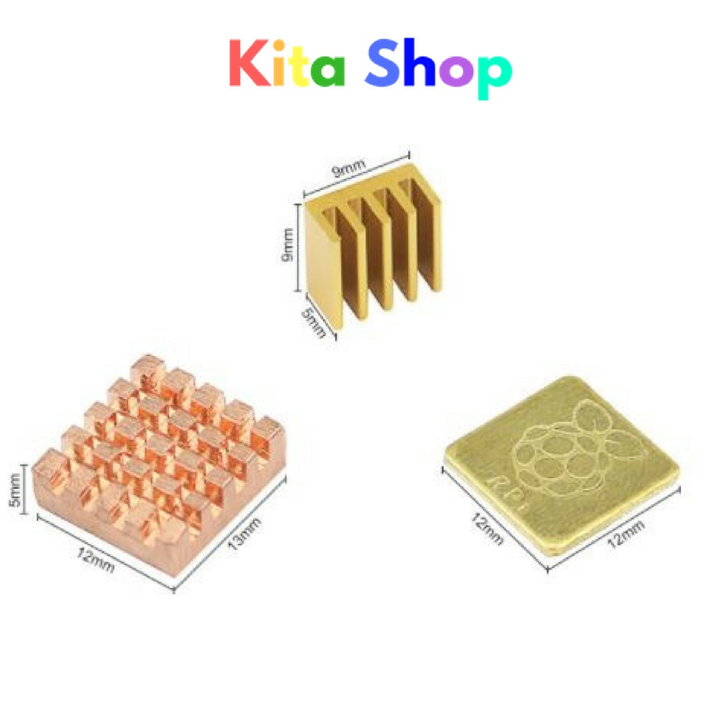 Chip Radiator Cooler Aluminum And Copper Heating Sink For Raspberry Pi 3