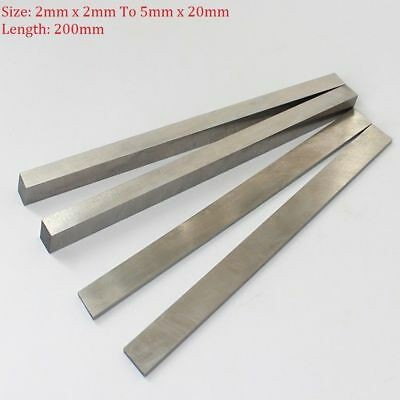 5pcs 2×4×200mm HSS High Speed Steel CNC Lathe Cutting Tool Bits Flat Strip Bar