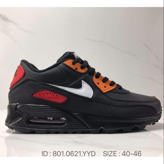 Nike Air Max 90 Retro Air Cushion Running Sports Shoes Sneakers Premium - Black /40-46 EURO
