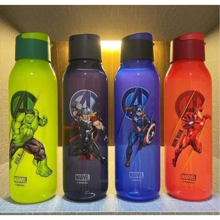 Tupperware Avenger Eco Bottle 750ml (2) Marvel/ Air Botol Iron Man/ The Hulk/ Thor/Captain America