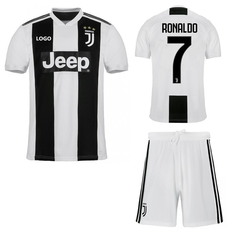 943d10f68 2018-2019 Juventus FC No.7 RONALDO Home Kit Football jersey Soccer jersey