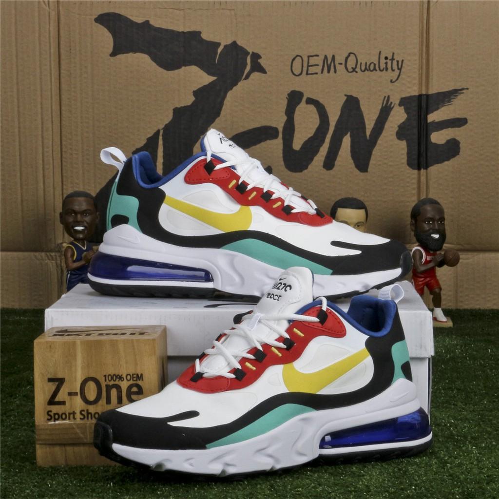 Ventilación marea cáscara  3 color Nike AIR MAX 270 REACT Running Shoes for women Men   Shopee Malaysia