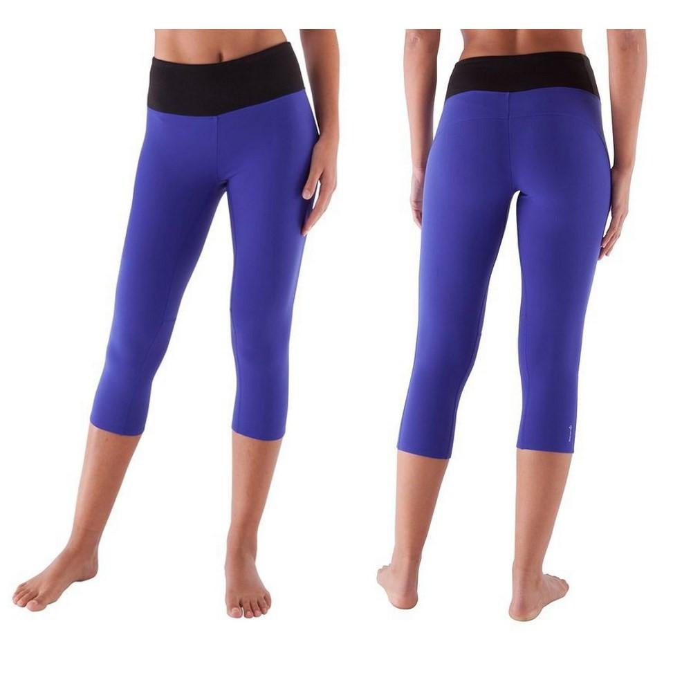 Domyos Women S Active Yoga Fitness Flat Stomach Capri Tights By Decathlon Shopee Malaysia