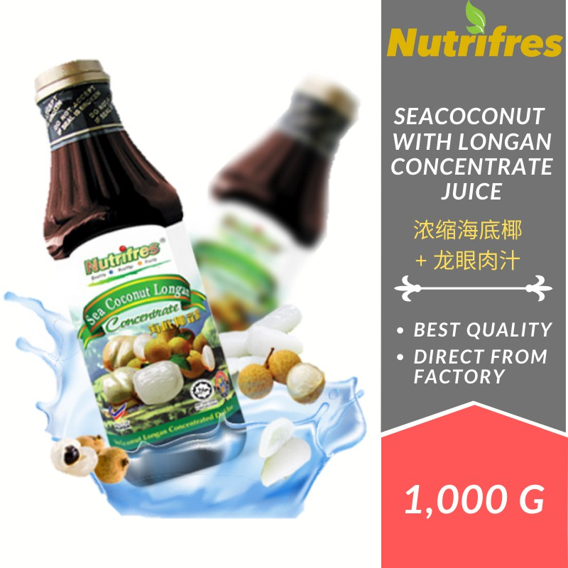 Nutrifres Sea Coconut with Longan Fruit Juice Concentrate / Cordial (1 Liter)