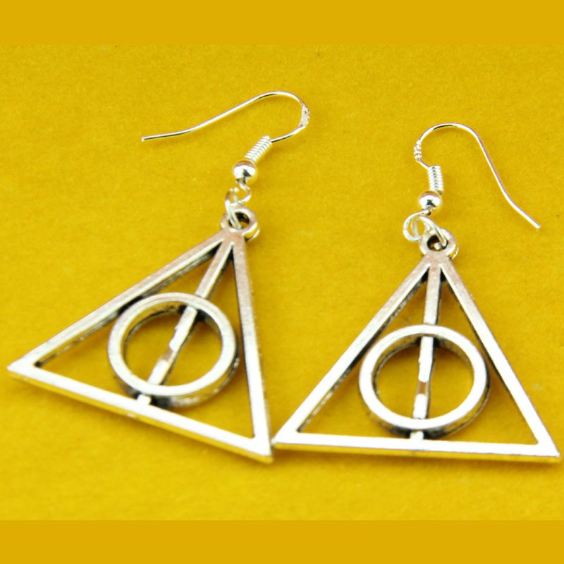 1 Pair Hot Fashion Harry Potter The Deathly Hallows Charm earrings