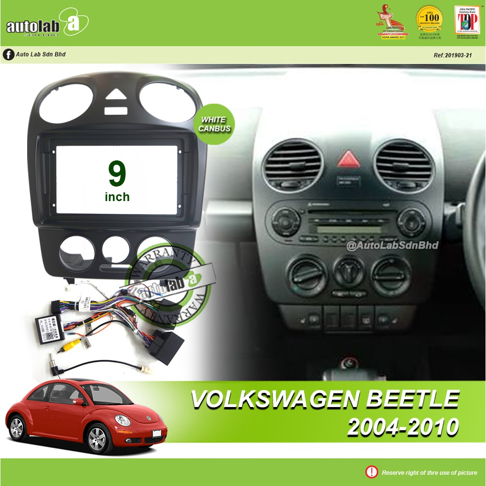 """Android Player Casing 9"""" Volkswagen Beetle 2004-2010 (with Canbus)"""