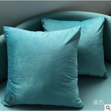 PLC1019 45x45cm velvet fabric cushion pillow cover-Turquoise