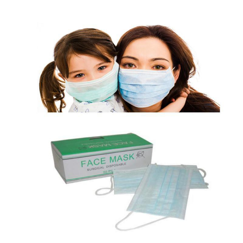 Child Face Mask 3 Ply 50S + Adult Face Mask 3 Ply 50S
