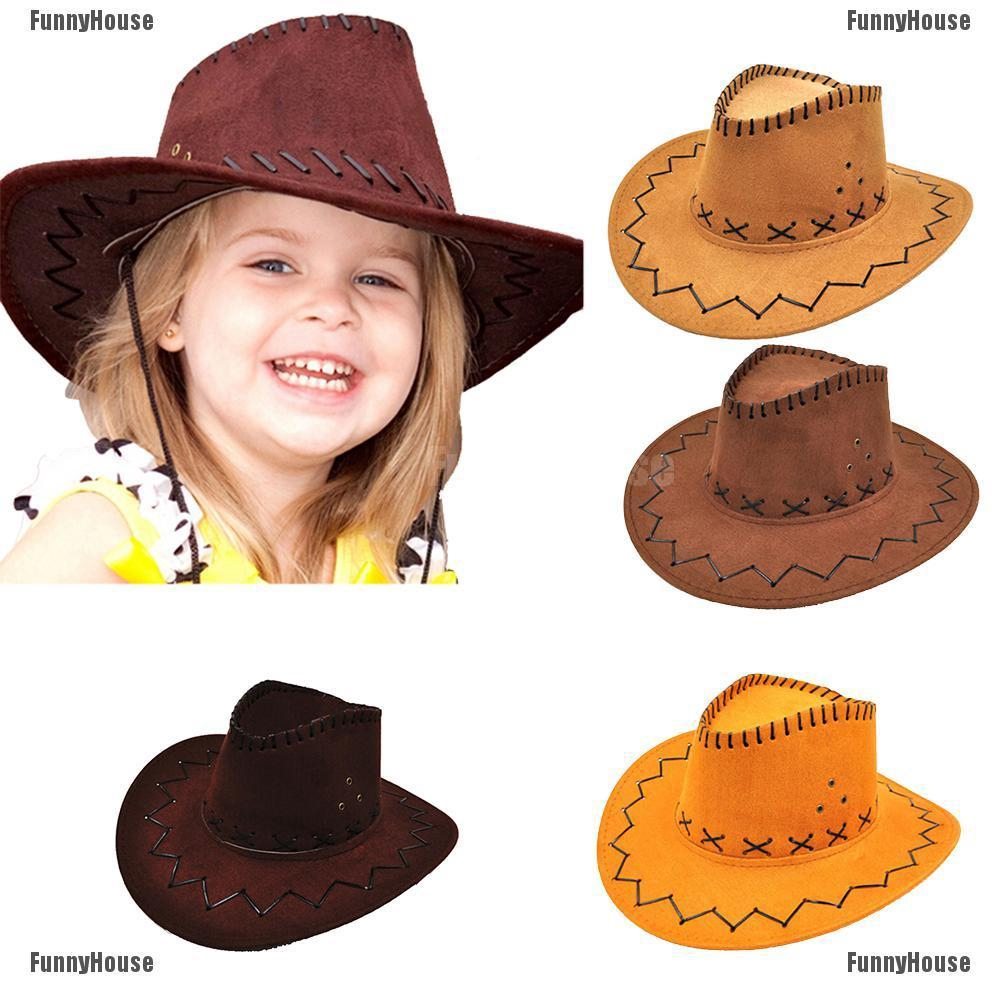 adf2cbc04 Halloween Style Western Cowgirl Cowboy Hat For Kid Boys Gilrs Party  Costumes MY