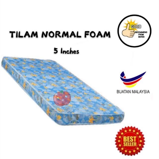 Tilam Bujang Normal Foam 5 Inci Dan 4