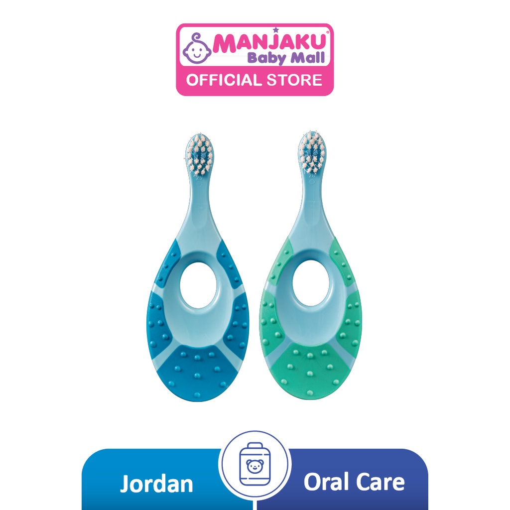 Jordan Kids Step 1 Supersoft Toothbrush (Age 0-2) [Twin Pack]  - Assorted Colour
