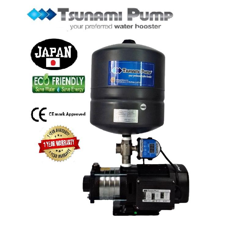 Tsunami CMH2-50-IPT  Digital Pressure HomeTank Horizontal Multi-Stage Pump Water Pressure Pump Booster 【1 Year Warranty】
